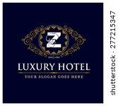 luxury hotel logo template... | Shutterstock .eps vector #277215347