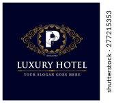 luxury hotel logo template...   Shutterstock .eps vector #277215353