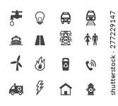 public utility icons  mono...