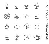 sprout icons  mono vector...