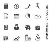 accounting icons  mono vector...