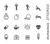 sick icons  mono vector symbols | Shutterstock .eps vector #277229213