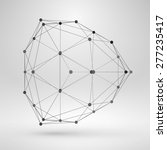 wireframe polygonal element.... | Shutterstock .eps vector #277235417