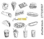 vector set of fast food. vector ... | Shutterstock .eps vector #277235507
