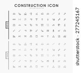 construction bold and thin... | Shutterstock .eps vector #277245167