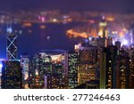 Night Aerial View Panorama Of...