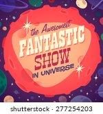 Постер, плакат: Fantastic show Retro styled