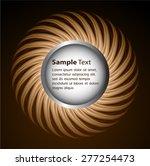 dark brown circle light... | Shutterstock .eps vector #277254473