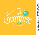 colorful lettering summer on... | Shutterstock . vector #277263653