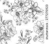 floral seamless pattern. flower ... | Shutterstock .eps vector #277270523