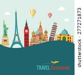 travel and tourism background | Shutterstock .eps vector #277271873