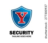 abstract secure shield logo... | Shutterstock .eps vector #277300937