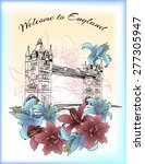 england london postcard with... | Shutterstock .eps vector #277305947