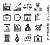 business icons  office icons | Shutterstock .eps vector #277308383