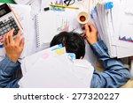 businessman heavy workload... | Shutterstock . vector #277320227