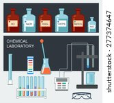 chemical laboratory. flat... | Shutterstock .eps vector #277374647
