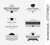 vintage restaurant logo set ...   Shutterstock .eps vector #277374827