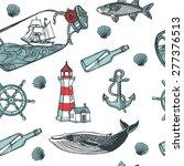 hand drawn vintage nautical... | Shutterstock .eps vector #277376513