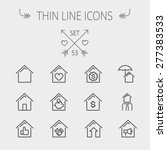 real estate thin line icon set... | Shutterstock .eps vector #277383533