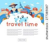 world travel. planning summer...   Shutterstock .eps vector #277385087