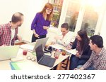 young group of people...   Shutterstock . vector #277402367