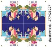 vector alphabet letter i on... | Shutterstock .eps vector #277428227