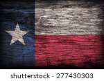 Texas Flag Pattern On Wooden...