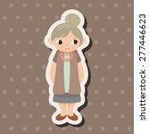 family grandmother character... | Shutterstock .eps vector #277446623