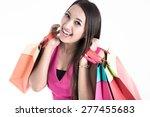 shopping woman holding shopping
