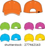 cap template. front and back... | Shutterstock .eps vector #277462163