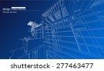 architecture blue print... | Shutterstock .eps vector #277463477