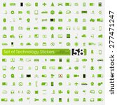 technology vector sticker icons ... | Shutterstock .eps vector #277471247