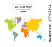 world map continental divide.... | Shutterstock .eps vector #277478903