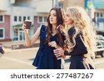 lifestyle portrait of two best... | Shutterstock . vector #277487267