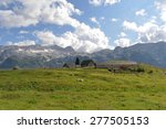 the plateau of montasio cheese | Shutterstock . vector #277505153
