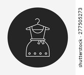 clothes line icon | Shutterstock .eps vector #277505273