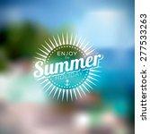 vector illustration on a summer ... | Shutterstock .eps vector #277533263