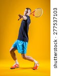 Tennis Player On Yellow...