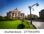 Palace Of Fine Arts In Mexico...