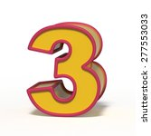 number 3 isolated on white...   Shutterstock . vector #277553033