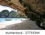 cave on the island of pkhi pkhi | Shutterstock . vector #27755344