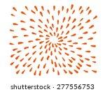 vector hand drawn bursting rays.... | Shutterstock .eps vector #277556753