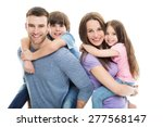 young family with two kids  | Shutterstock . vector #277568147