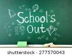 inscription on blackboard... | Shutterstock . vector #277570043