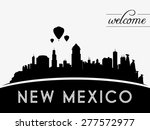 New Mexico Usa Skyline...