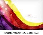 yellow and purple color lines ... | Shutterstock .eps vector #277581767