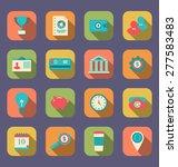 Illustration Flat Icons Of Web...