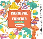 fun fair traveling circus and... | Shutterstock .eps vector #277597997
