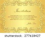 luxury golden invitation with... | Shutterstock .eps vector #277618427