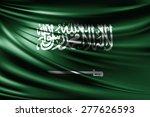 saudi arabia flag of silk  | Shutterstock . vector #277626593